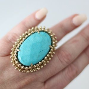 Kendra Scott Statement Cocktail Ring in Turquoise